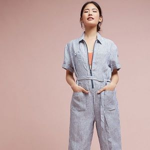Striped Linen Jumpsuit // NWT // Anthropologie